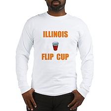 Illinois Flip Cup Long Sleeve T-Shirt