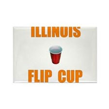 Illinois Flip Cup Rectangle Magnet (10 pack)