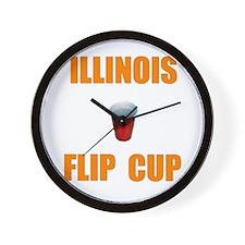 Illinois Flip Cup Wall Clock