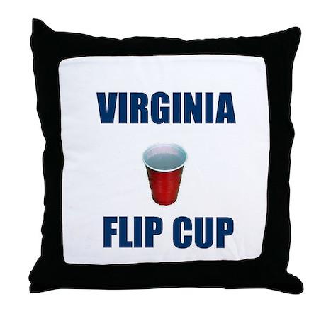 Virginia Flip Cup Throw Pillow