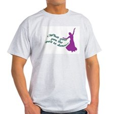 Spirit to dance Ash Grey T-Shirt