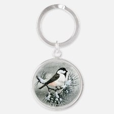 Black Capped Chickadee Bird Keychains