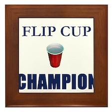 Flip Cup Champion Framed Tile