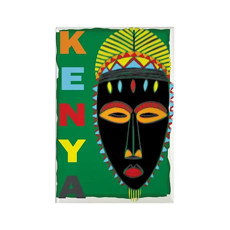 Kenya Mask Rectangle Magnet