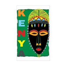 Kenya Mask Rectangle Decal