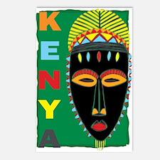 Kenya Mask Postcards (Package of 8)