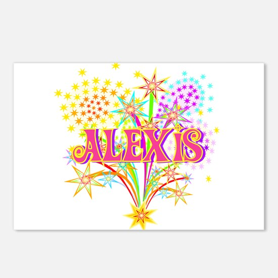Sparkle Celebration Alexis Postcards (Package of 8