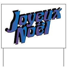 Joyeux Noel Yard Sign