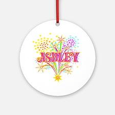 Sparkle Celebration Ashley Ornament (Round)