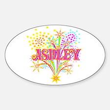 Sparkle Celebration Ashley Oval Decal