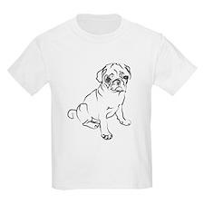 Pug Puppy Art Kids T-Shirt