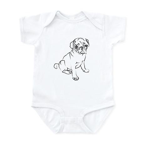 Pug Puppy Art Infant Bodysuit
