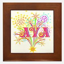 Sparkle Celebration Ava Framed Tile