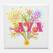 Sparkle Celebration Ava Tile Coaster