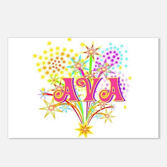 Sparkle Celebration Ava Postcards (Package of 8)
