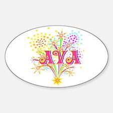 Sparkle Celebration Ava Oval Decal