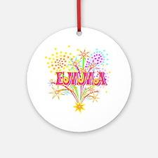Sparkle Celebration Emma Ornament (Round)