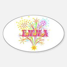 Sparkle Celebration Emma Oval Decal