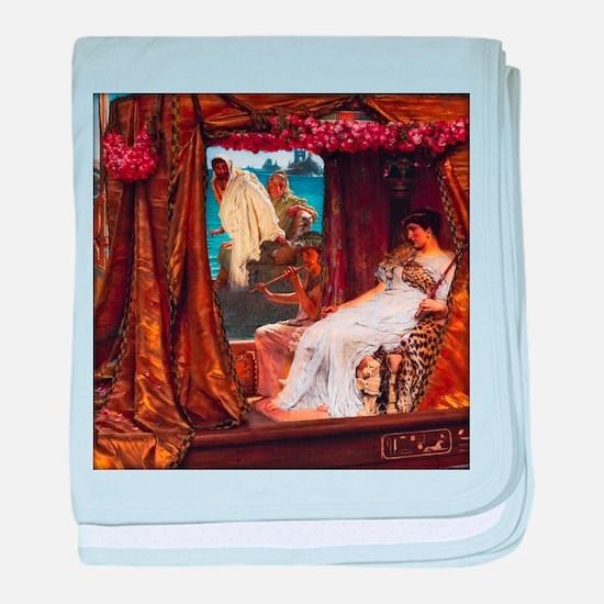 Alma-Tadema - Antony and Cleopatra baby blanket