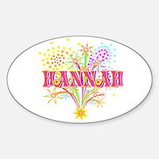 Sparkle Celebration Hannah Oval Decal