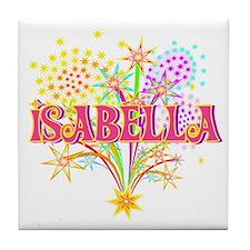 Sparkle Celebration Isabella Tile Coaster