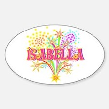 Sparkle Celebration Isabella Oval Decal