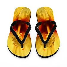 Yellow Hawaii Hibiscus Flip Flops