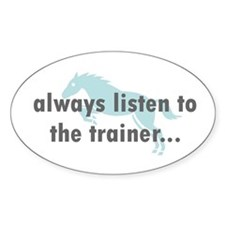 the Trainer Oval Decal