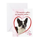 Boston terrier valentines day Greeting Cards