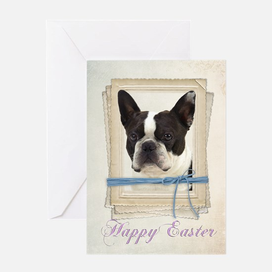 Boston Terrier Easter Card