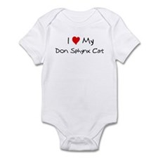 Love My Don Sphynx Cat Infant Bodysuit
