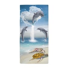 The Heart Of The Dolphins Beach Towel