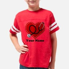 personalized stethoscope hear Youth Football Shirt