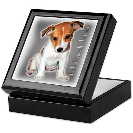 Jack Russell Puppy Keepsake Box