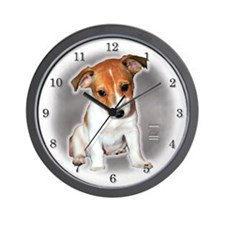 Jack Russell Puppy Wall Clock