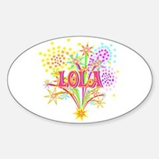 Sparkle Celebration Lola Oval Decal