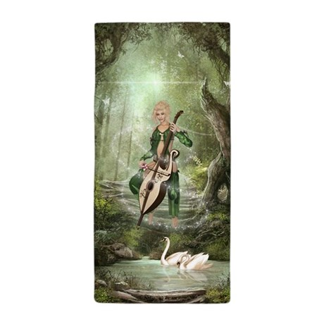 The Elven Forest Beach Towel