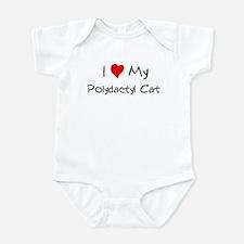 I Love Polydactyl Cat Infant Bodysuit