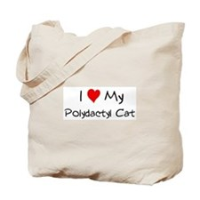 I Love Polydactyl Cat Tote Bag