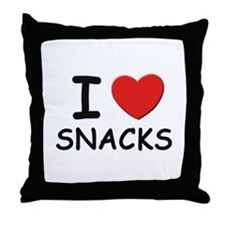 I love snacks Throw Pillow