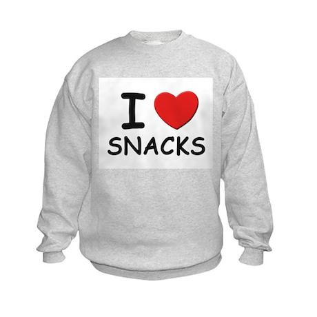 I love snacks Kids Sweatshirt