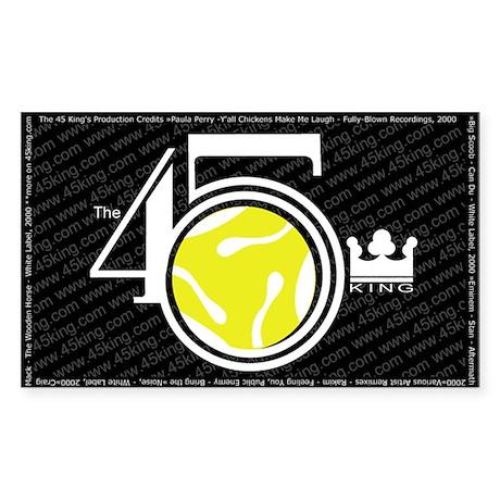 The 45 King 3x5 sticker