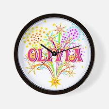 Sparkle Celebration Olivia Wall Clock