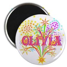 "Sparkle Celebration Olivia 2.25"" Magnet (10 pack)"