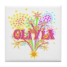Sparkle Celebration Olivia Tile Coaster