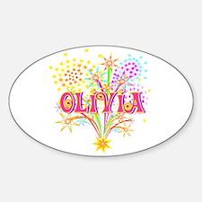 Sparkle Celebration Olivia Oval Decal