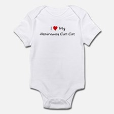 Love My Hemingway Curl Cat Infant Bodysuit