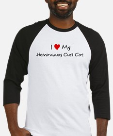 Love My Hemingway Curl Cat Baseball Jersey