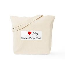 I Love Pixie-Bob Cat Tote Bag