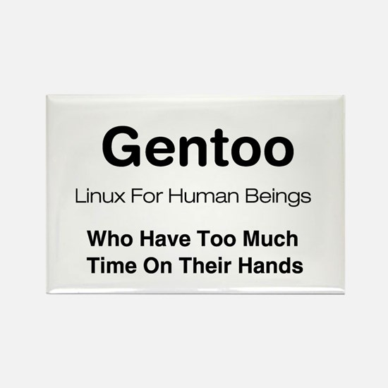 Gentoo Rectangle Magnet
